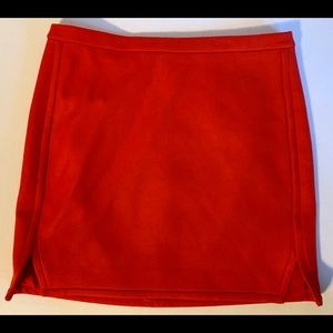 J. Crew Straight Skirt Red Size 12 Wool Lined